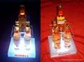 亚克力/有机玻璃LED发光展示牌 标识牌 啤酒座 2
