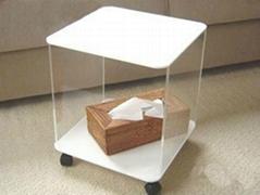 壓克力休閑小方桌子