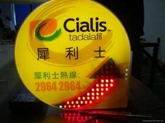 啞加力LED广告展示灯箱