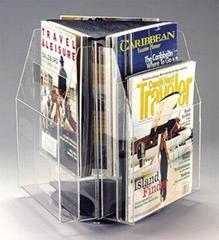 壓克力三面展示雜志展示架