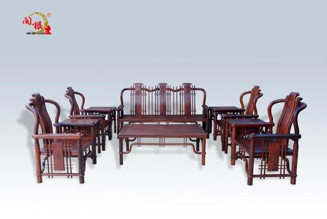 红酸枝明式沙发10件套 1