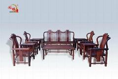 红酸枝明式沙发10件套