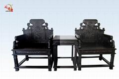 黑酸枝宝座椅三件套