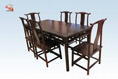 紅酸枝西餐桌7件套