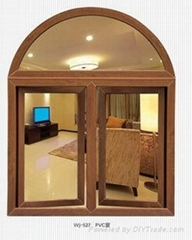 Customzied UPVC casement windows with colorful