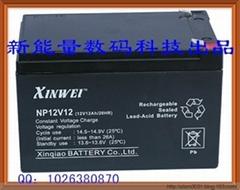 12V12AHFree maintenance of lead-acid batteries