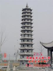 青石石雕塔