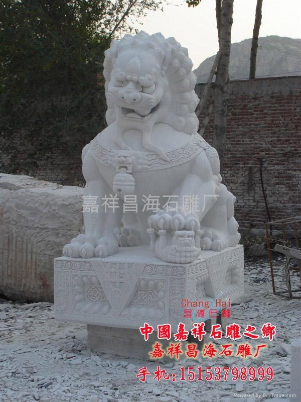 汉白玉石雕狮子 4