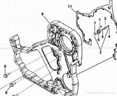 CUMMINS ENGINE PARTS-Gear Box 1700010-ZB7C0