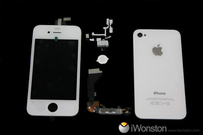 iphone 4 back cover white. For white iPhone 4 4g full