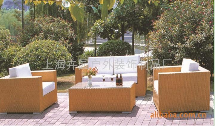 上海藤製傢具廠直銷pe仿藤沙發 1