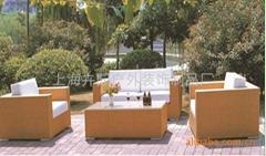 上海藤製傢具廠直銷pe仿藤沙發