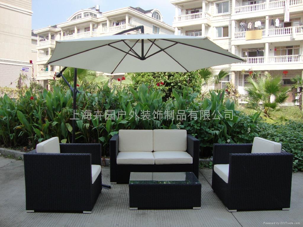 上海藤製傢具廠直銷pe仿藤沙發 3