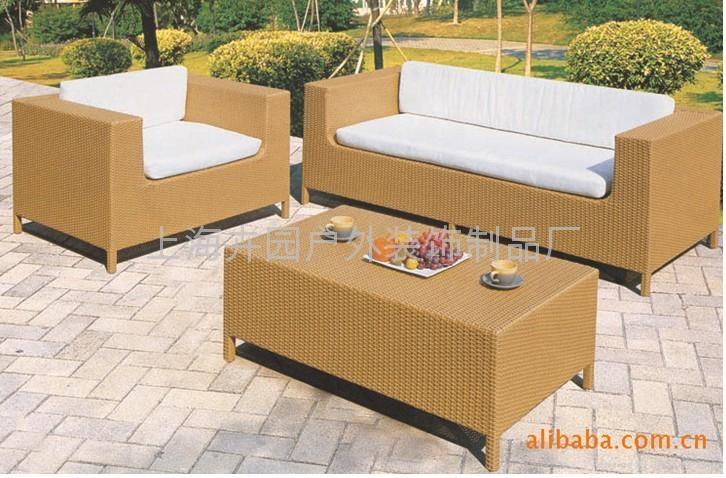 上海藤製傢具廠直銷pe仿藤沙發 5