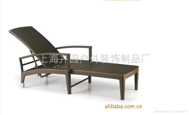 戶外躺編藤pe椅 2