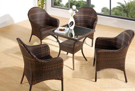 戶外編藤桌椅 3