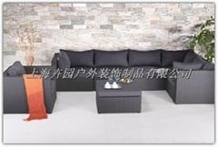 上海藤制家具厂直销休闲组合仿藤沙发