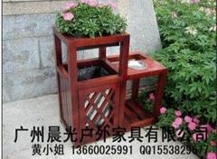 木製環衛環保拉圾桶CG-5102