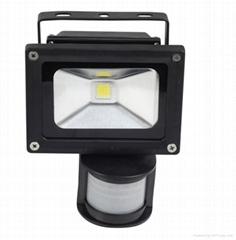 10W LED感应泛光灯