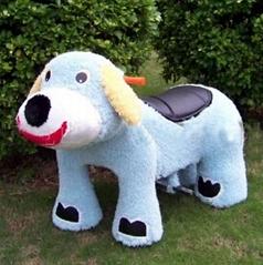 毛绒车淘气狗电动玩具车