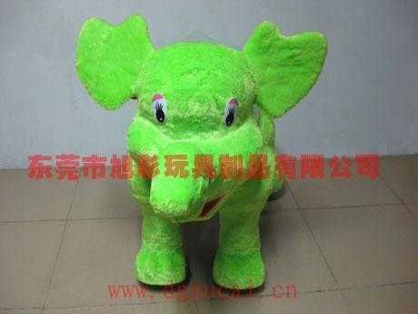 儿童喜愛的小飛象毛絨車電動車玩具儿童車 1