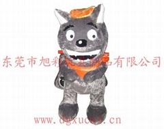 供应小孩子最喜欢的灰太狼毛绒玩具电动车