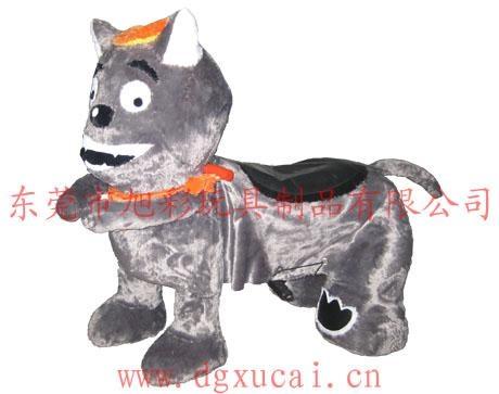 供應小孩子最喜歡的灰太狼毛絨玩具電動車 2
