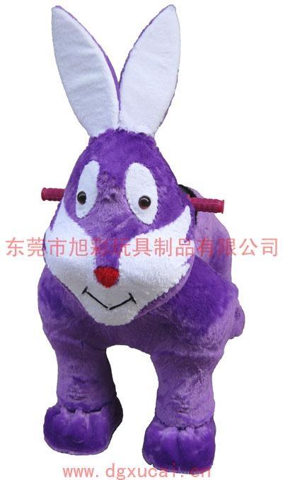 供應最新玩具小兔毛絨電動車 1