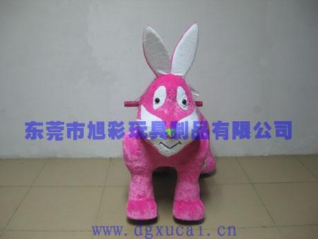 供應最新玩具小兔毛絨電動車 2