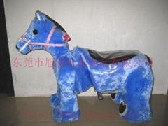 供应儿童玩具小马毛绒玩具电动车