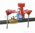 Double arms Universal Ball Valve Lockout, safety Products ,locks. Safety locks