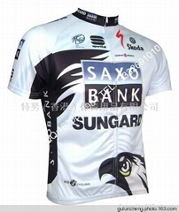 2011 Team SAXO BANK Cycling Jersey Bib Shorts Kit