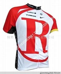 2011 RadioShack Trek Red Team Cycling Jersey And Shorts Set