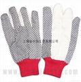 cotton interlock gloves,cotton canvas and jersey glove  3