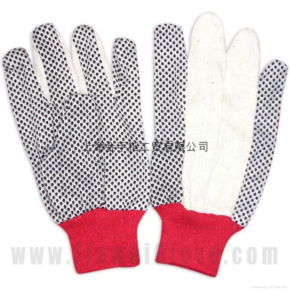 cotton interlock gloves,cotton canvas and jersey glove  4