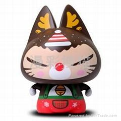 正品zhuaimao卡通品牌禮品工藝品搪膠聖誕鹿拽貓玩偶