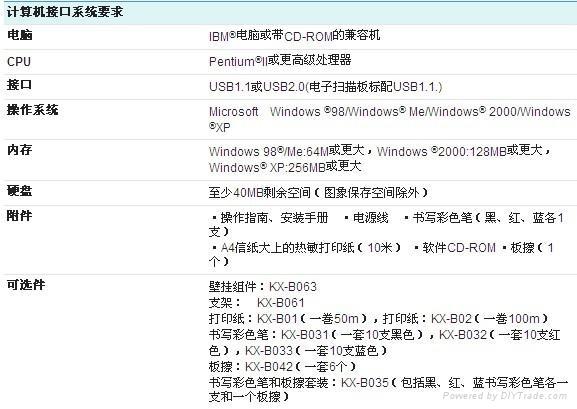 松下電子白板UB-518B 3