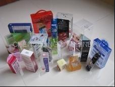 透明塑料 折盒刷膠機 2