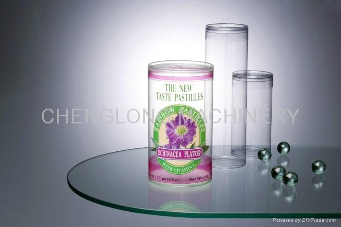 PVC透明圓筒膠盒 1