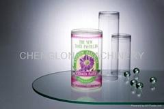 PVC透明圆筒胶盒