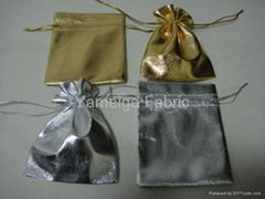 Golden/Silver fabric bag  7cm9cm