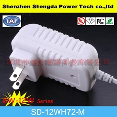 new style US plug power adapter(white color)