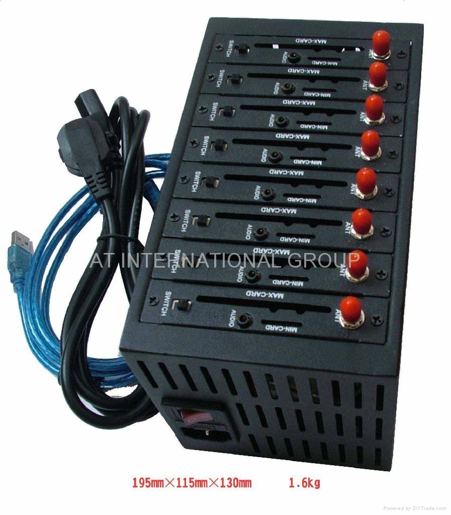 usb 8 ports GSM GPRS industrial modem pool 3