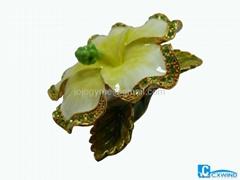 Flower jewelry box