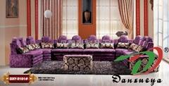 欧式古典布艺转角沙发