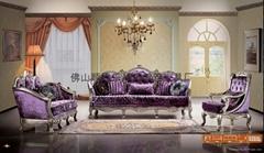 European classic solid wood sofa 823#