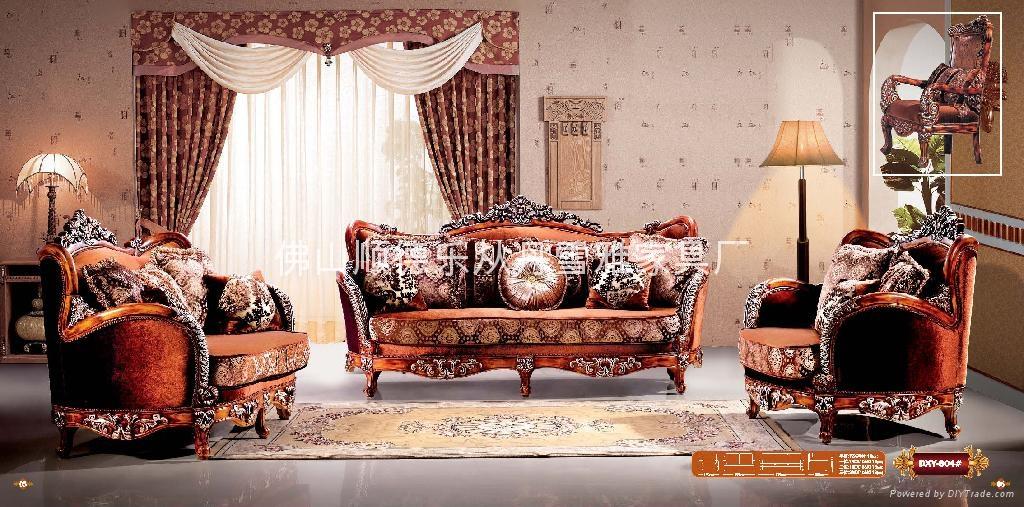 歐式古典布藝沙發 1