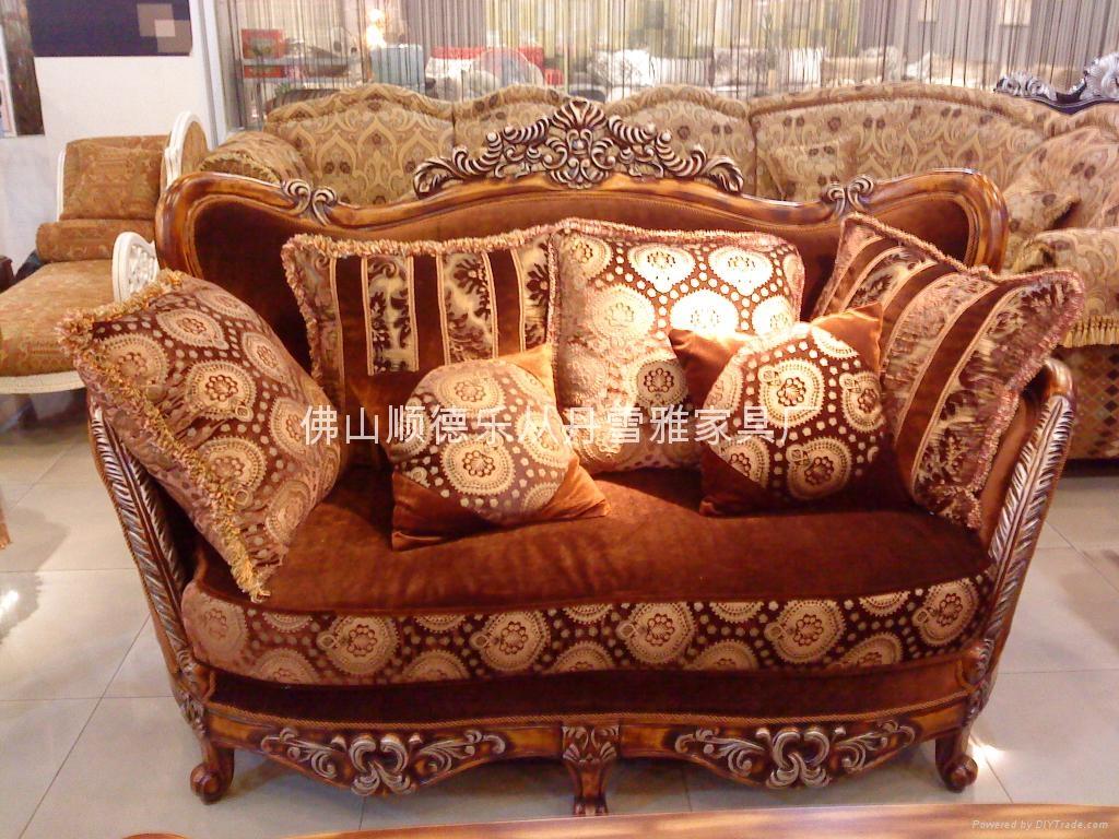 歐式古典布藝沙發 2