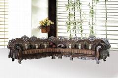 Neoclassic fabric corne sofa