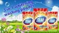 New three-efficiency whitening washing power: